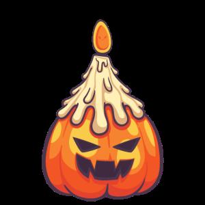 Halloween Kürbis Fratze Kerze