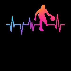 Basketball Herzschlag EKG Basketballer