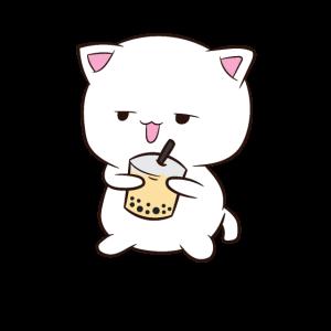 Boba Tee Katze mit BobaTee Katze Bubble Tea