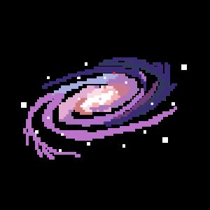 Galaxie in Pixel