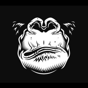 Mundschutz Gesichtsmaske - wütender Affe