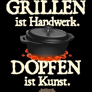 Dutch Oven T-Shirt Grillen Handwerk Dopfen Kunst