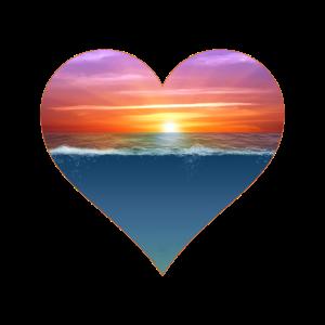 Herz Meer Sonnenuntergang Sonnenaufgang