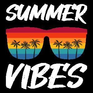 Summer Vibes Geschenk Geburtstag Shirt T-Shirt Sun