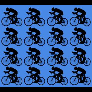 Radfahrer Muster Maske Blau
