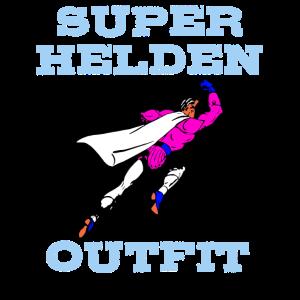 Superhelden Outfit für Karneval, Fasching, Fasnet