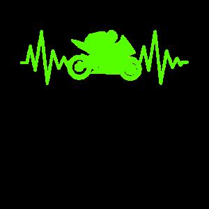 Supersportler Rennmotorrad EKG Linie Herzschlag
