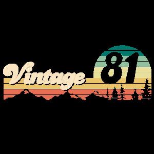 Vintage 1981 40 Geburtstag Vierzig Jahre Geschenk