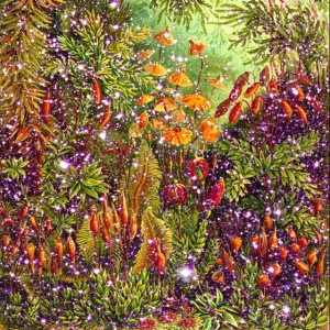 Magic forest flowers meadow fairy tale Fantasia fairy forest