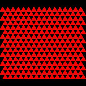 Dreiecke Rot Mundschutz