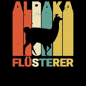 Retro Alpaka Flüsterer Lustiges Lama Vintage