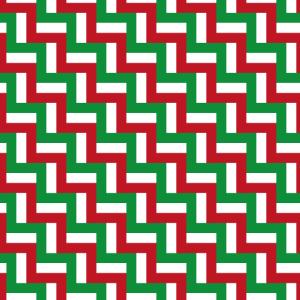 Zickzack-Muster mit italienischen Farben