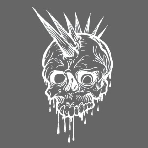 Skull and spikes