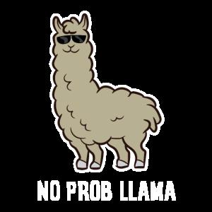 Llama Gift No Probllama Lama mit Sonnenbrille