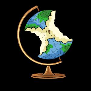 Globus Erde Apfel Klimaschutz Klimawandel