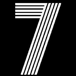 Retro Rückennummer 7