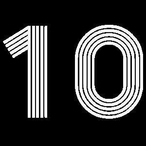 Retro Rückennummer 10