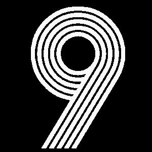 Fußball Retro Rückennummer 9