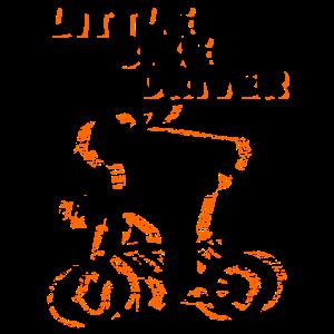 Little Bike driver Fahrradfahrer Radfahrer witzig