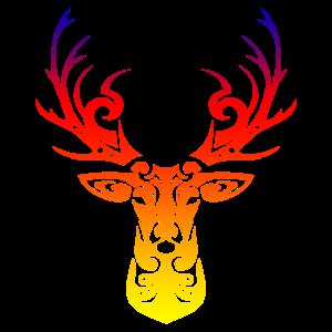 Hirschkunst Tribal Tattoo-Geschenkidee