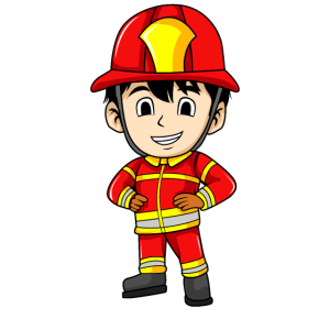Cartoon Feuerwehrmann Illustration