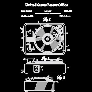 Vinyl-Schallplattenspieler-Patent-Schema Plattensp