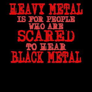 Heavy Metal vs. Black Metal Spruch