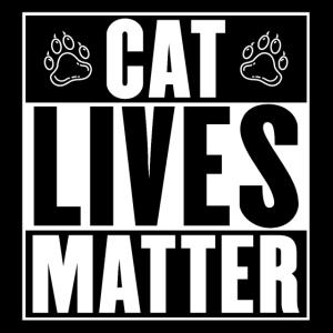 CAT Lives Matter Black White Schwarz Weiß Pfoten