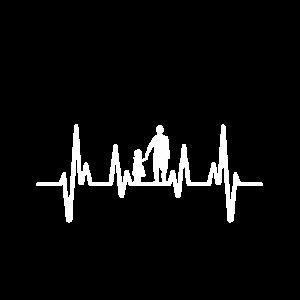 Herzschlag Familie Vater Tochter Papa EKG Geschenk