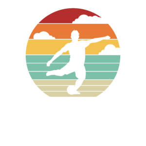 Fußball Soccer Retro Fußballer Ballsport Tor