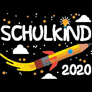 Schulkind 2020 Einschulung Erstklässler Rakete