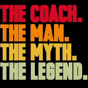 Trainer Coach Mythos Legende lustig Geschenk