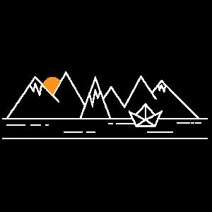 Boot und Berge
