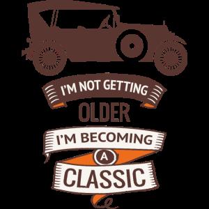 Oldtimer älter werden Fahrzeug Geburtstag Geschenk