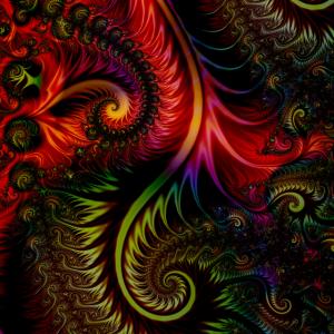 Rotes Fraktal