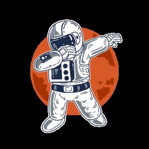 Dabbing Astronaut Mond Blutmond
