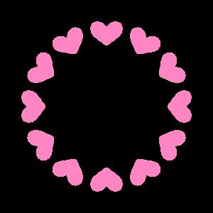 Herz Kreis Rosa Rund Herzchen Modern Geschenk