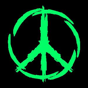 Peace Symbol Grün Geschenk Peacezeichen