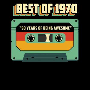 1970 Geburtstagshemd - 50. Geburtstagshemd - Kassette