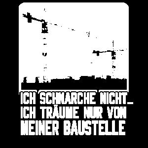Baustelle Kräne Bauarbeiter Handwerker Spruch
