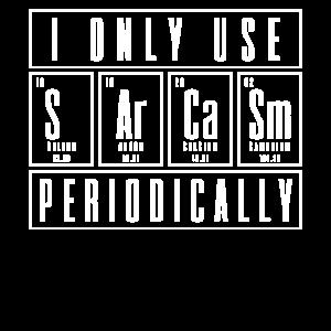Sarkasmus Periodensystem Chemie Wissenschaft