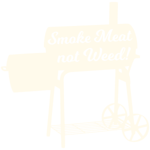 Grillschürze - Smoke Meat not Weed