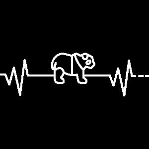 Herzschlag Panda Pandabär Bär Bambus Geschenkidee