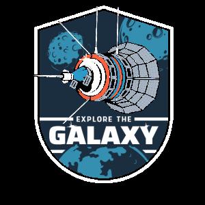Explore The Galaxy - Satellit Weltraum Geschenk