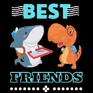 Dinosaurier Hai Freunde
