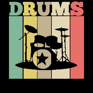 Schlagzeug Drums Retro Vintage