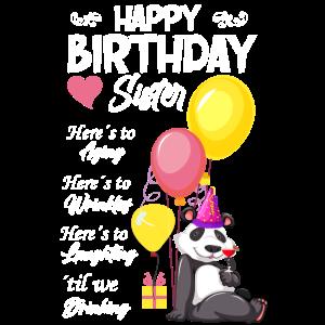 Geburtstag schwester Panda Geburtstagsgeschenk