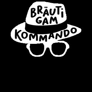 Bräutigam Kommando Team Bräutigam Hut Brille