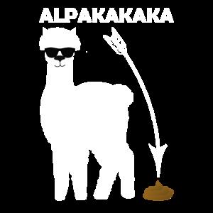 Alpaka muss mal groß Lama Retro Vintage