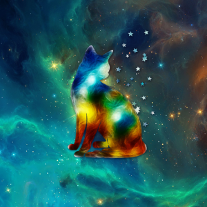 Katze, Sterne, Weltraum, Kosmos, Galaxie, Space